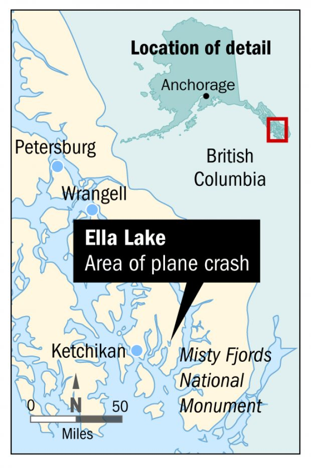 Eight people along with Pilot die in a Plane crash in South-East Alaska
