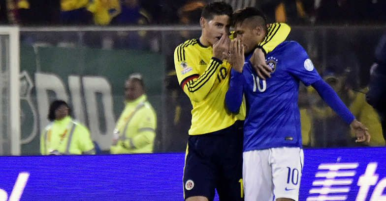 I told Neymar to stay calm as I also went through when we lost to Venezuela: James Rodriguez