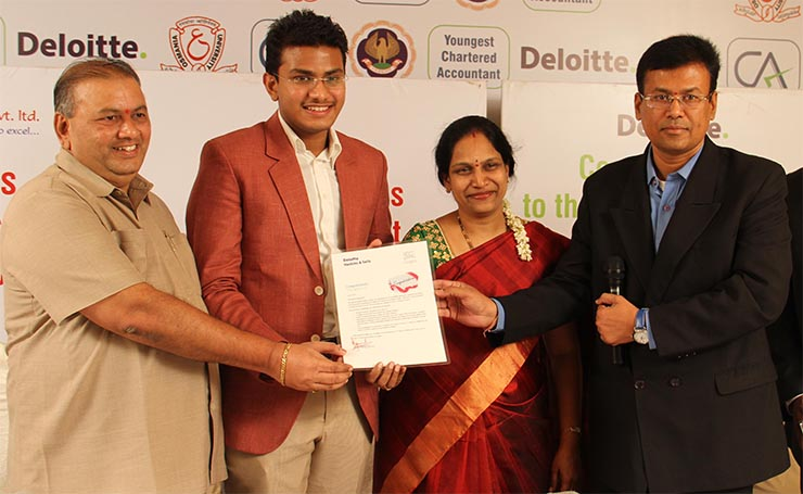 Nischal Narayanam becomes Youngest Charted Accountant in India