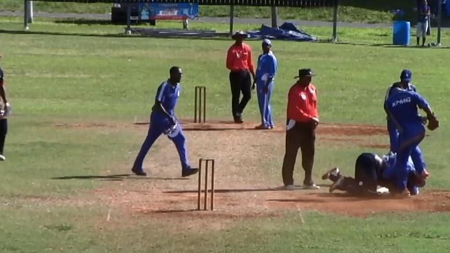 Bermuda: Cricket Field Turns Into Wrestling Ground