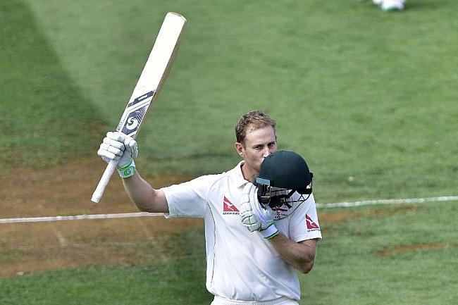 Adam Voges celebrating his second Double century in Test Career