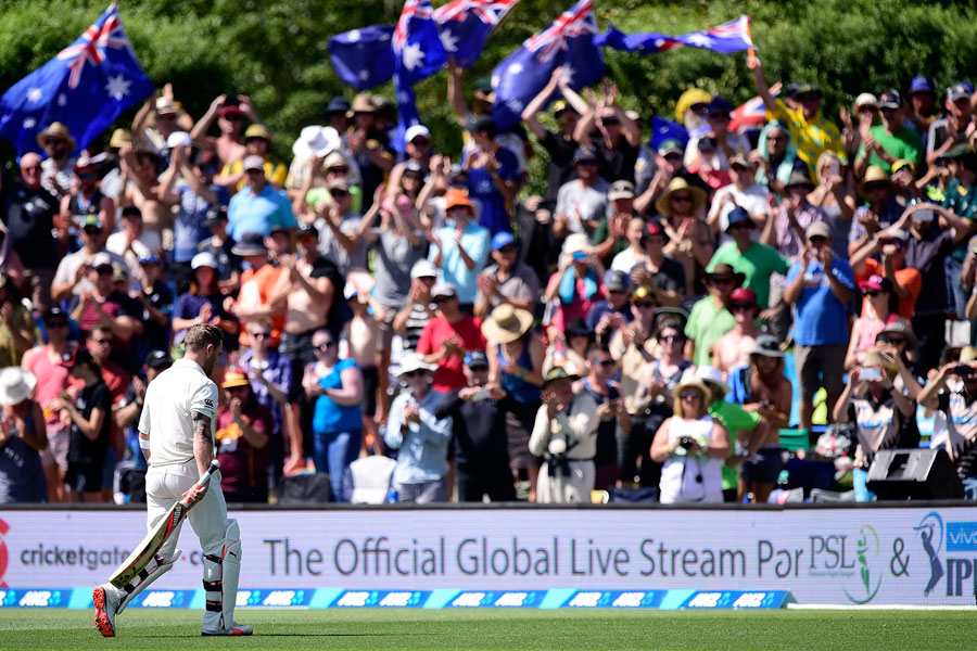McCullum gets a standing ovation after his record-breaking Knock