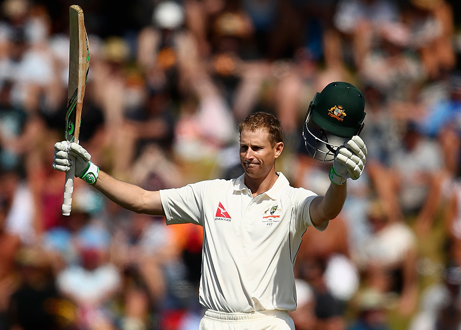 Voges after completing his century