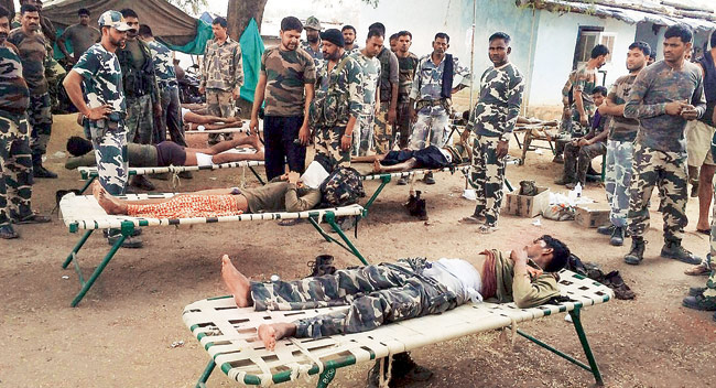 Five STF jawans injured in gunbattle with Maoists in Sukma