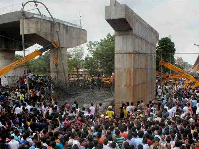 One dead, 11 injured as under-construction flyover collapses in Bhubaneswar