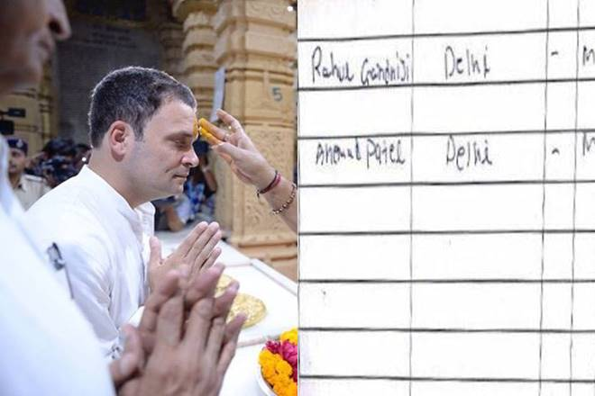 Rahul Gandhi a non-Hindu? Congress VP at Somnath Temple, row erupts