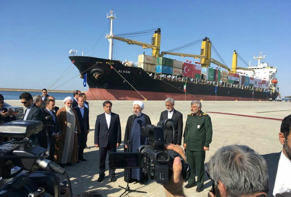 Iran opens $1 bn extension at gateway port to Afghanistan