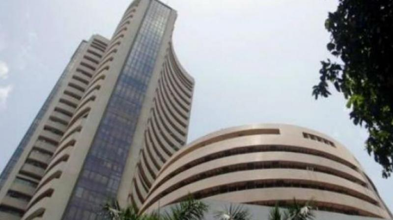 Sensex soars 286 points, Nifty knocks on 11000-mark