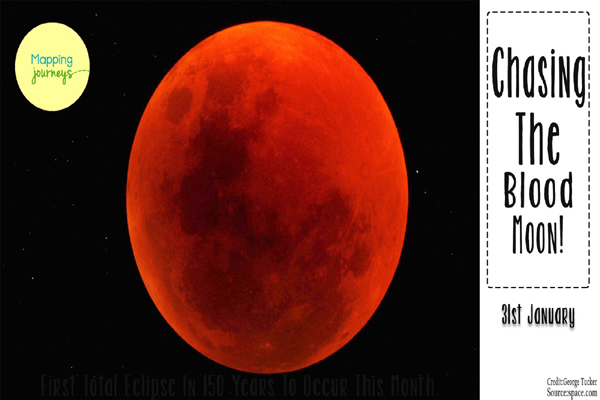 Super, full, blood, blue moon in eclipse to end January