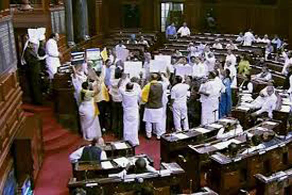RS adjourned till 1400 hrs after ruckus over AP, Cauvery, sealing issues