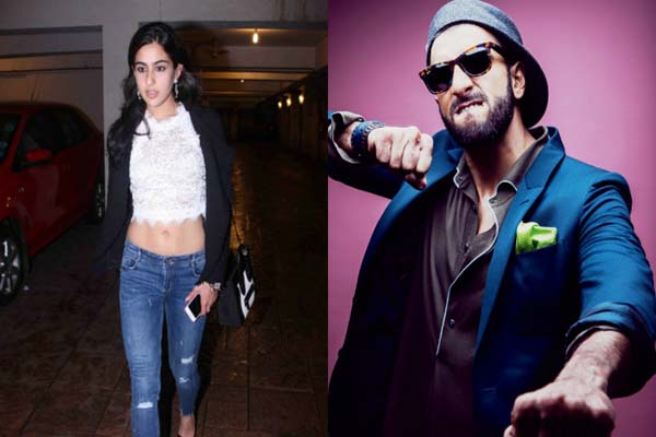 It's Sara Ali Khan opposite Ranveer Singh in Simmba