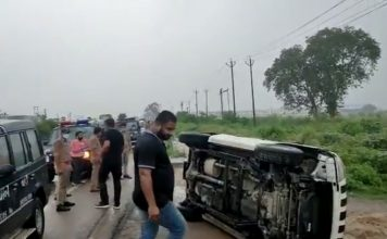 Cows, buffaloes caused accident of car carrying Dubey, claims STF