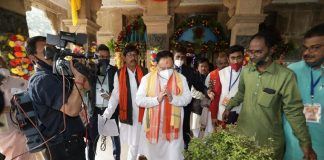 BJP President JP Nadda visits Radha Gobind temple in West Bengal