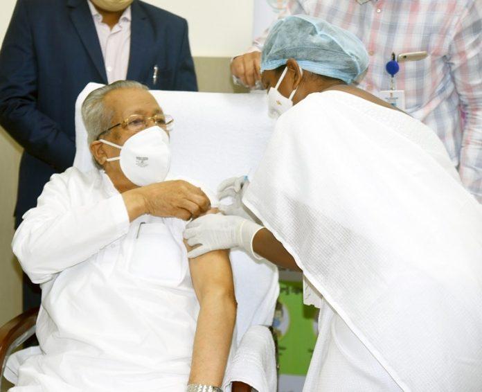 Andhra Pradesh Governor Biswa Bhusan Harichandan takes COVID Vaccine Shot