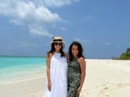 Dia Mirza poses with step-daughter in Maldivian vacay pic