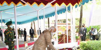Prime Minister pays homage at the Mausoleum of Bangabandhu Sheikh Mujibur Rahman