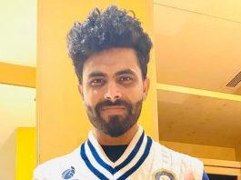 Jadeja displays India's retro jumper for WTC final